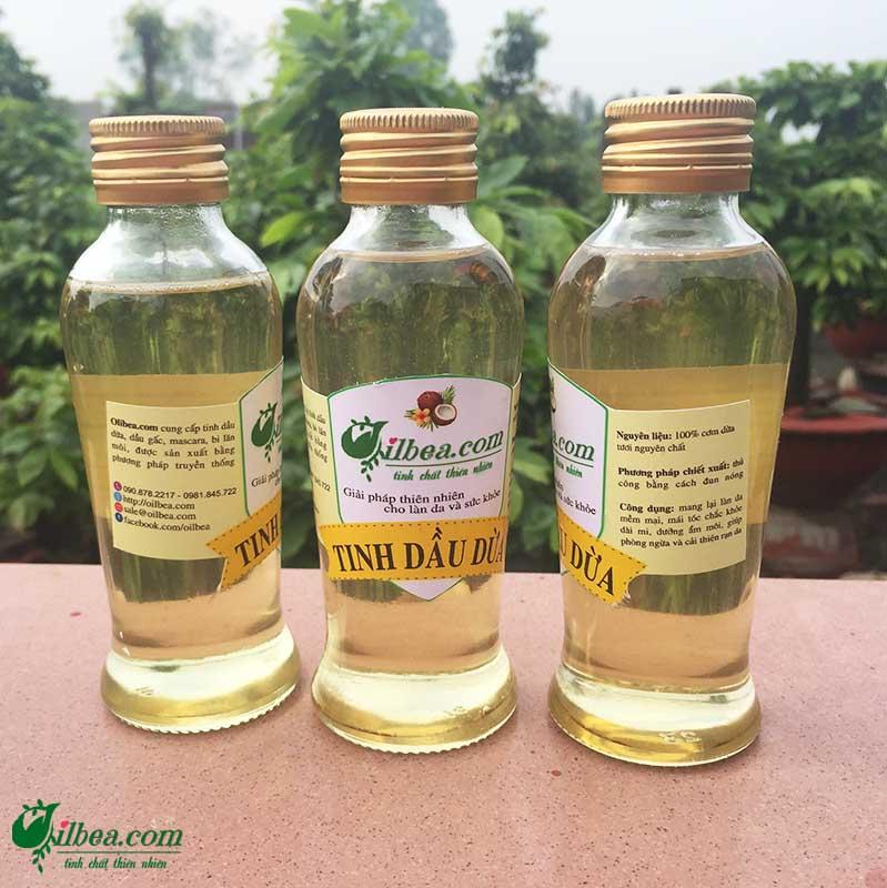 Combo dầu dừa 120ml, mascara, lăn môi dưỡng ẩm