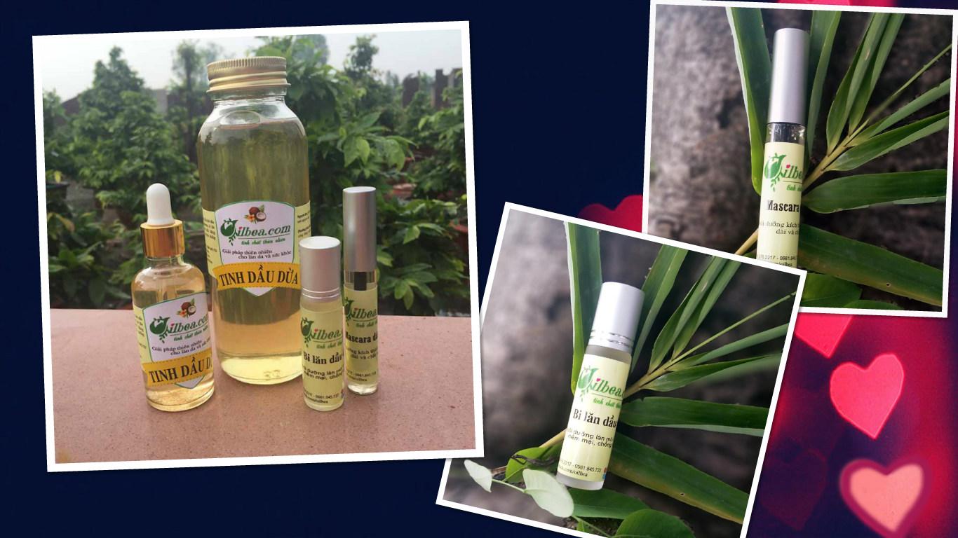 Combo dầu dừa 100ml, mascara, lăn môi dưỡng ẩm chỉ với 280.000đ